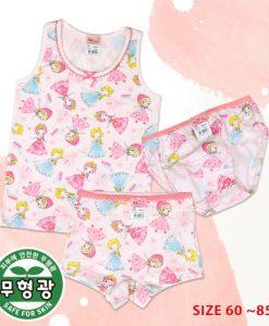 Ice Princess Girls' Cotton Span Underwear Set