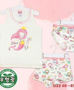 Mermaid girl girls cotton span underwear set