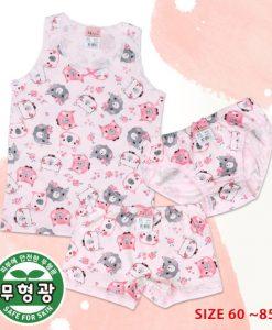 Petite Girls' Cotton Span Underwear Set