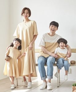 Family Beige Banana Short Sleeve